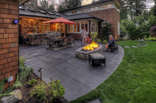 Can these pavers be laid over an existing concrete slab ... on Concrete Slab Backyard Ideas id=39619
