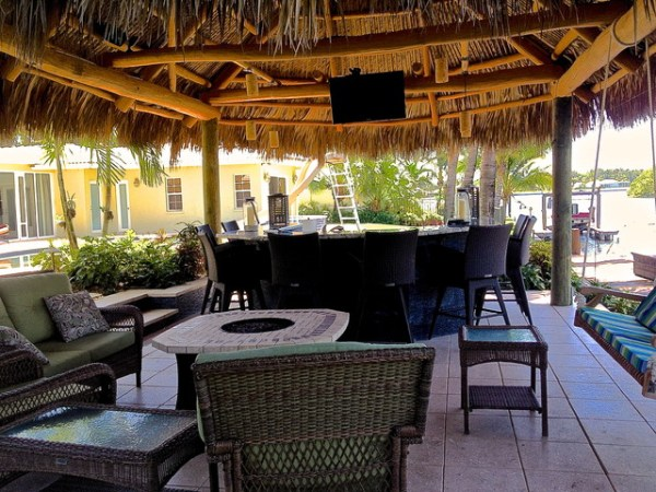 tropical patio outdoor kitchens Tiki Hut, Outdoor Kitchen and Landscaping - Tropical