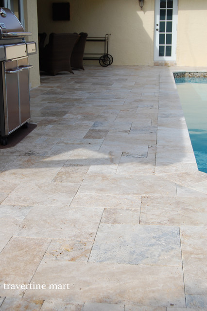 Country Classic Travertine Pavers Natural Stone Pool Tiles