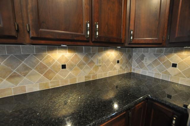 Granite Countertops and Tile Backsplash Ideas - Eclectic ... on Kitchen Backsplash Backsplash Ideas For Granite Countertops  id=37226