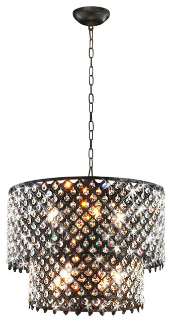 Bella Jean 8 Light Round Crystal Chandelier Antique