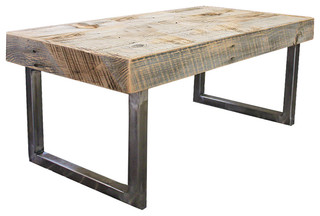 Reclaimed Wood Coffee Table rustic-coffee-tables