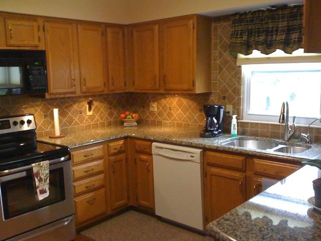 Granite Countertops and Tile Backsplash Ideas - Eclectic ... on Kitchen Backsplash Backsplash Ideas For Granite Countertops  id=86256