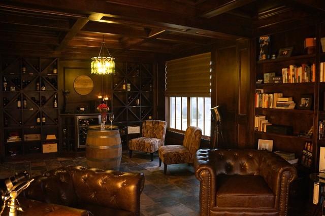 ZT Wine Amp Cigar Lounge Transitional Living Room
