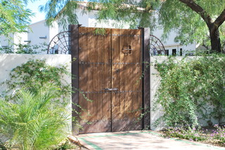 Antique Wood Entry Gates Traditional Entry Phoenix