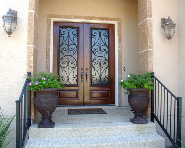San Carlos Double Door Mediterranean Entry Austin