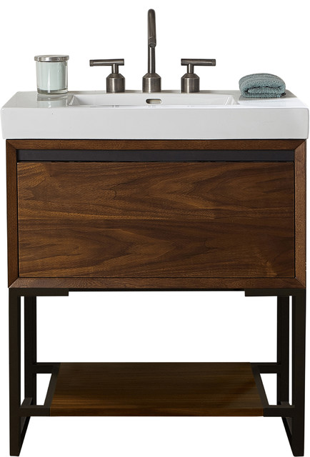 fairmont designs m4 28 single vanity natural walnut base cabinet only