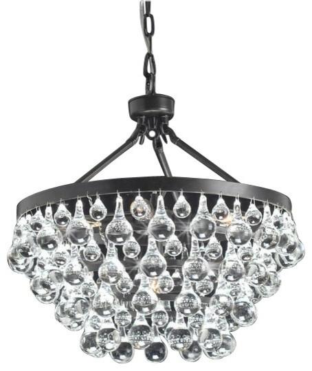 Modern Style Glass Crystal 5 Light Chandelier Antique Bronze Chandeliers