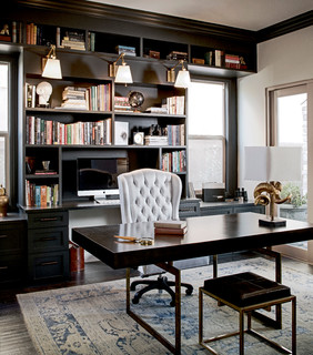 Maison Noir traditional-home-office