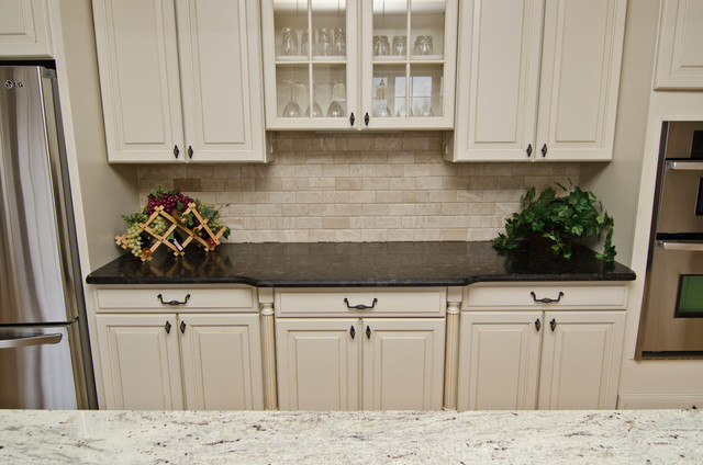 Leathered Antique Brown Granite and River Valley Granite ... on Black Granite Countertops With Brown Cabinets  id=99541