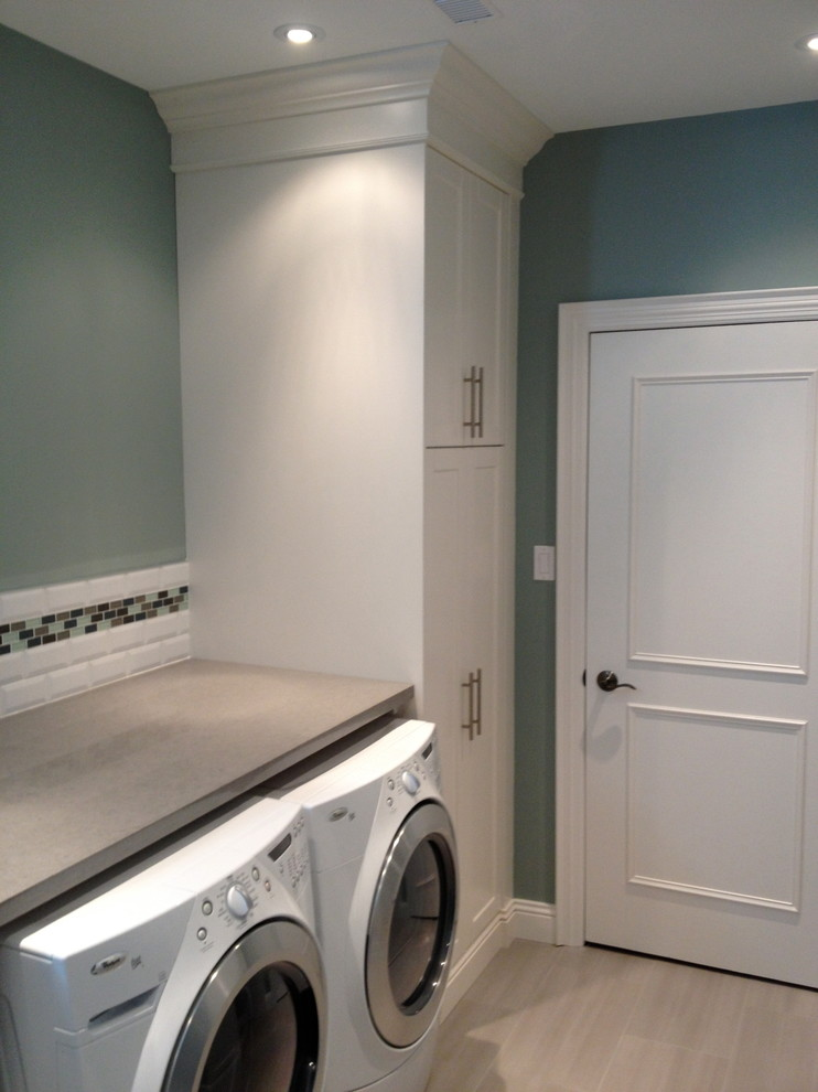 full basement reno vaughan contemporary laundry room on laundry room wall covering ideas id=67415