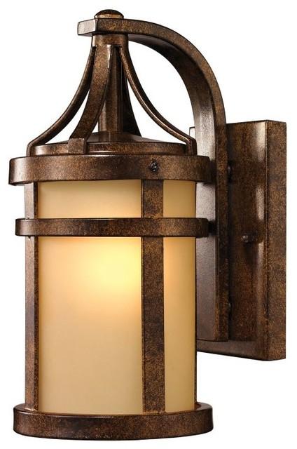Winona 1-Light Small Outdoor Sconce, Hazelnut Bronze ... on Small Wall Sconce Light id=49828