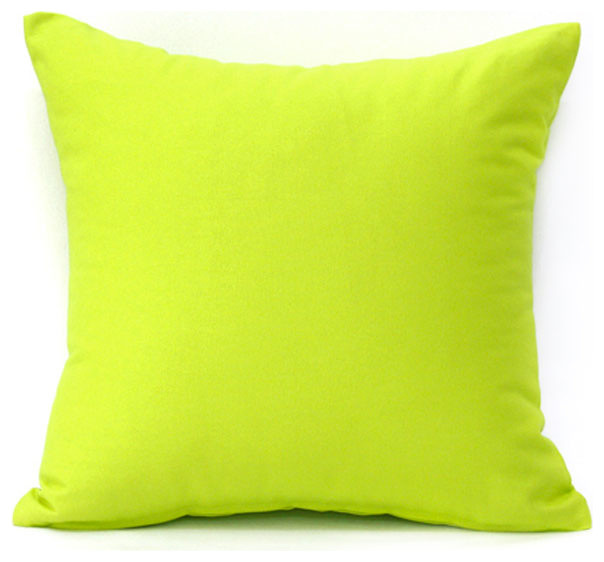 solid lime green accent throw pillow cover 16 x16
