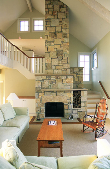 Cape Cod House Beach Style Living Room Boston By