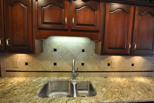Granite Countertops and Tile Backsplash Ideas - Eclectic ... on Granite Countertops With Backsplash Ideas  id=73300