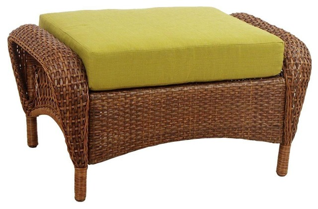 Martha Stewart Living Ottomans Charlottetown Brown All ... on Martha Stewart Wicker Patio Set id=68375