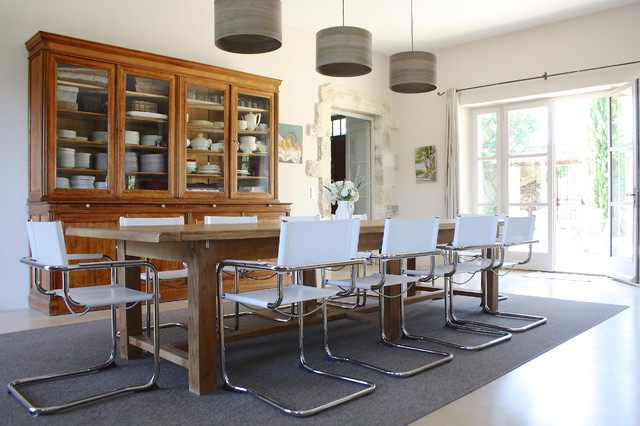 The Provence home of Chantal and Harry contemporary-dining-room