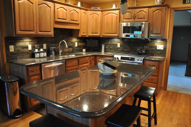 Granite Countertops and Tile Backsplash Ideas - Eclectic ... on Backsplash Ideas With Granite Countertops  id=96437