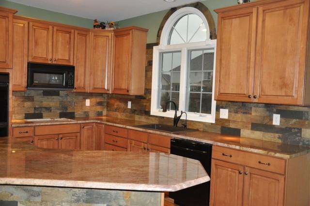 Granite Countertops and Tile Backsplash Ideas - Eclectic ... on Kitchen Backsplash Backsplash Ideas For Granite Countertops  id=89248