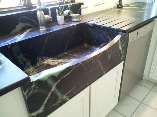 kitchen sinks soapstone for germ free