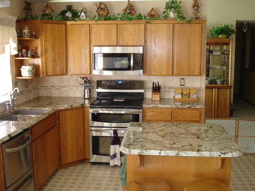 What color granite is this? Cabinets look like maple...are ... on What Color Countertops Go With Maple Cabinets  id=23019
