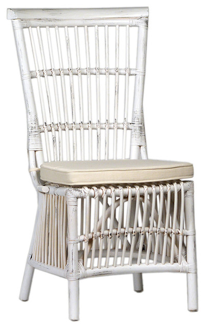 Download White Rattan Dining Chairs Gif