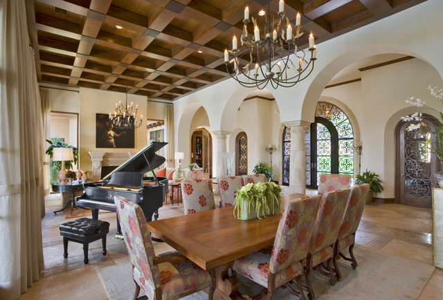 Seven Oaks Showcase Mediterranean Dining Room Austin By JAUREGUI Architecture Interiors