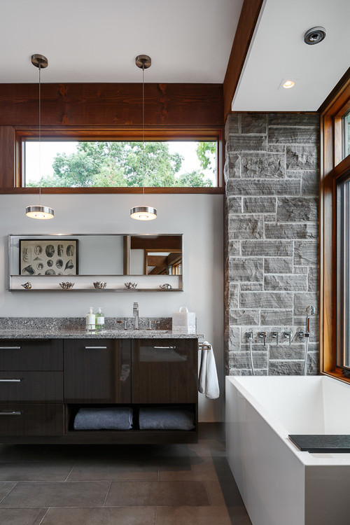 contemporary bathroom by ottawa kitchen bath designers astro design