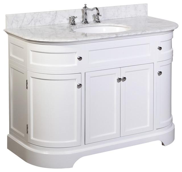 """montage 48"""" bath vanity with carrara top - transitional - bathroom"""