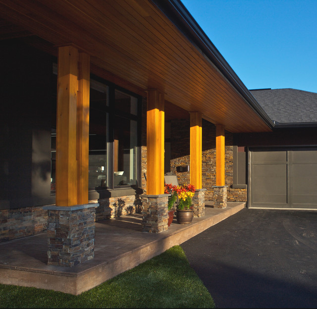 Natural Wood Porch Columns