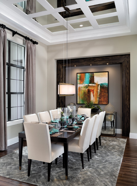 Castellina 1272 Model Home Transitional Dining Room