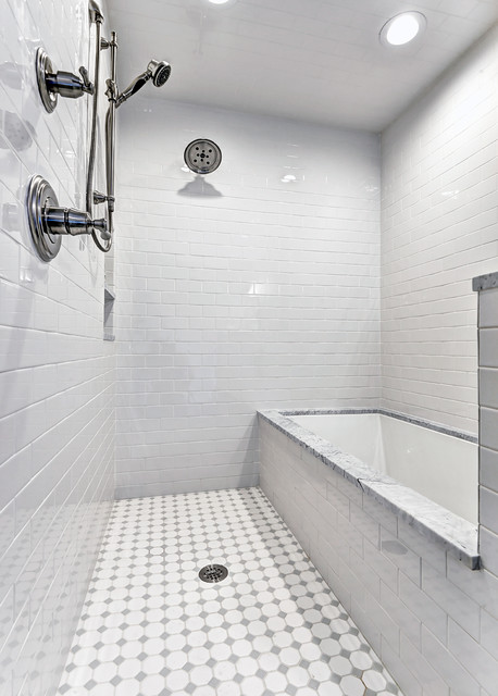 Wet Room Tub / Shower Combo - Traditional - Bathroom ... on Wet Room With Freestanding Tub  id=62523