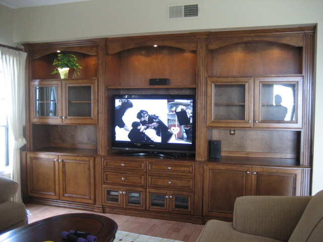 Entertainment Centers and Wall Units - Traditional ... on Living Room Wall Units id=39125