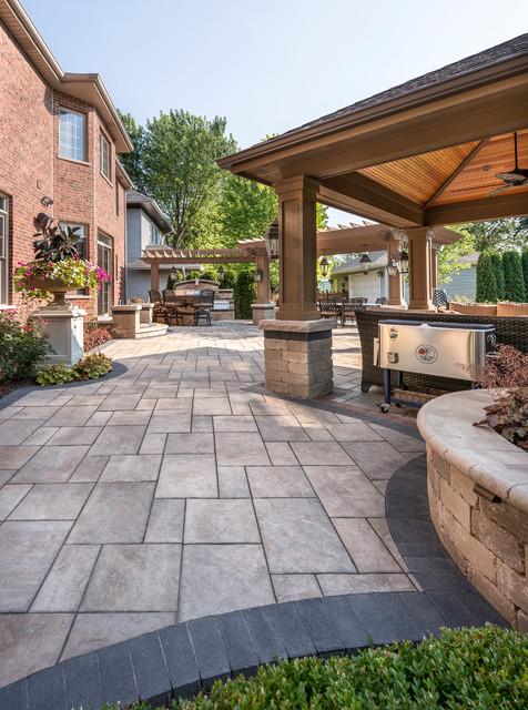 Outdoor Living with Unilock Beacon Hill Flagstone ... on Unilock Patio Ideas id=34091