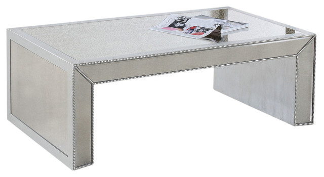 silver antique mirrored living room table coffee table