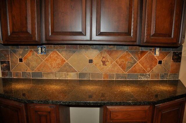 Granite Countertops and Tile Backsplash Ideas - Eclectic ... on Granite Countertops With Backsplash Ideas  id=95064