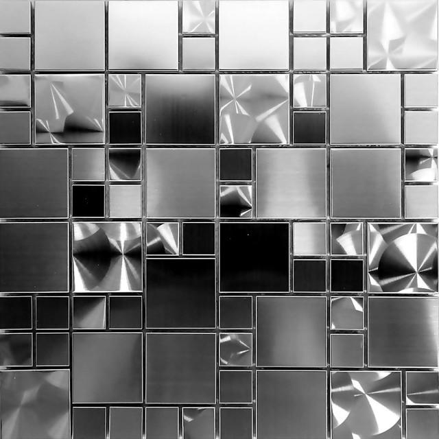 black industrial style stainless steel
