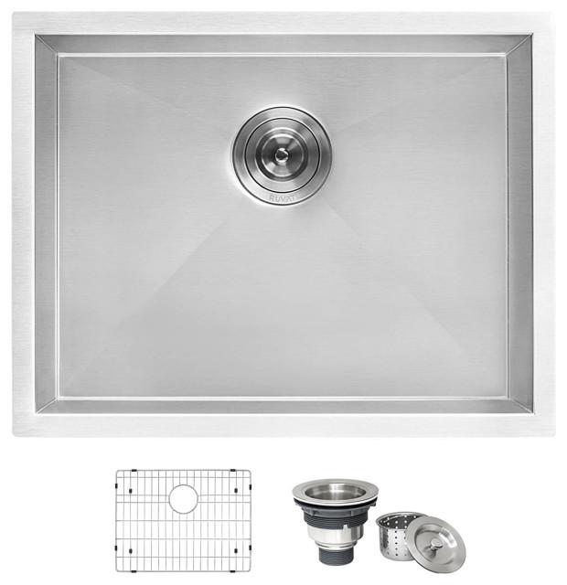 21 inch deep laundry utility sink undermount 16 gauge stainless steel rvu6121