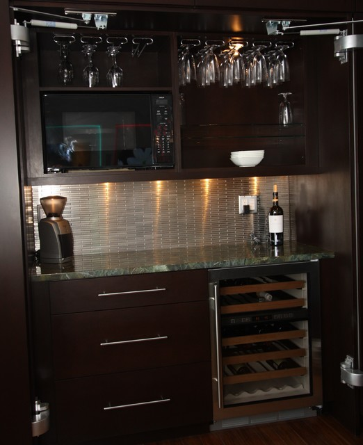 Mini Bar Contemporary Kitchen Cleveland By Architectural Justice