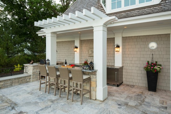 beach outdoor patio kitchen Outdoor Patio Kitchen and Bar - Beach Style - Patio