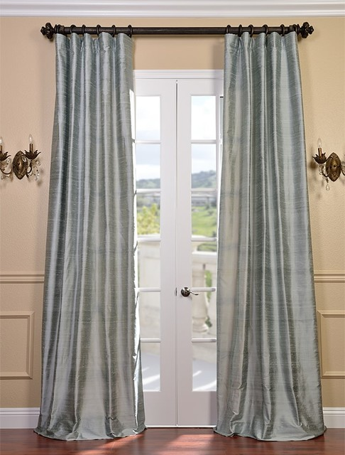 Shoreline Textured Dupioni Silk Curtain Traditional Curtains San Francisco By Half Price