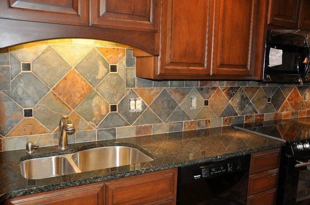 Granite Countertops and Tile Backsplash Ideas - Eclectic ... on Kitchen Backsplash Backsplash Ideas For Granite Countertops  id=41563