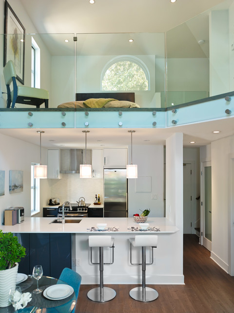 West End Condo Loft Renovation Contemporary Kitchen Vancouver By Essy West Contracting
