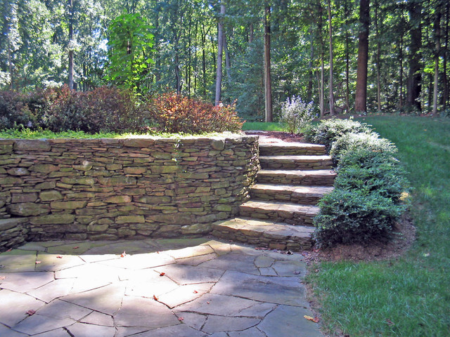 Stone Walls & Veneers - Modern - Patio - DC Metro - by ... on Patio Stone Wall Ideas id=16738