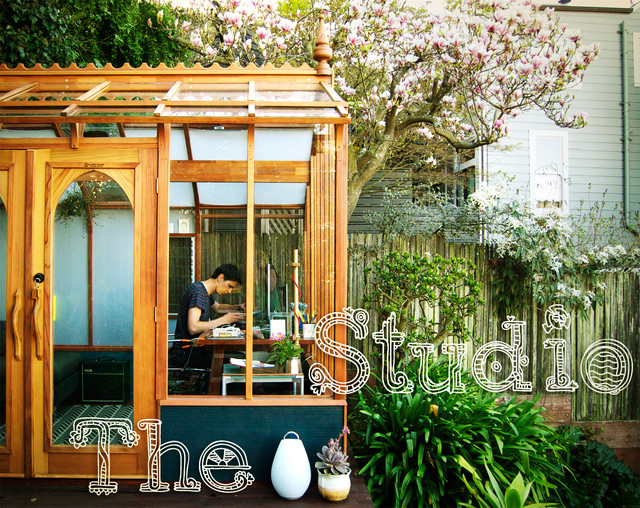 Studio Solution A Kit Greenhouse Becomes A Creative Private Office