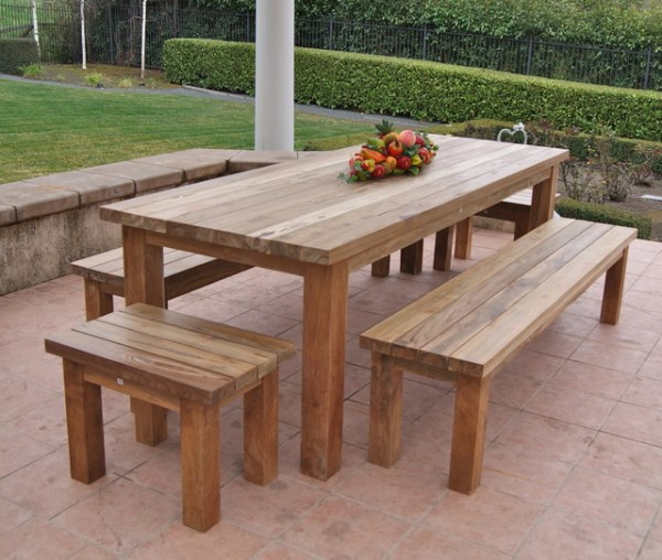 rustic outdoor patio furniture Reclaimed, Recycled Teak Patio Furniture - Rustic - Patio