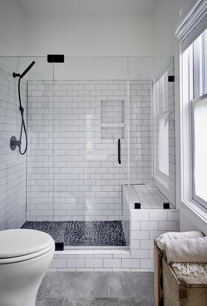 Sugar Grove Farmhouse - Farmhouse - Bathroom - Other - by ... on Farmhouse Tile Bathroom Floor  id=35141