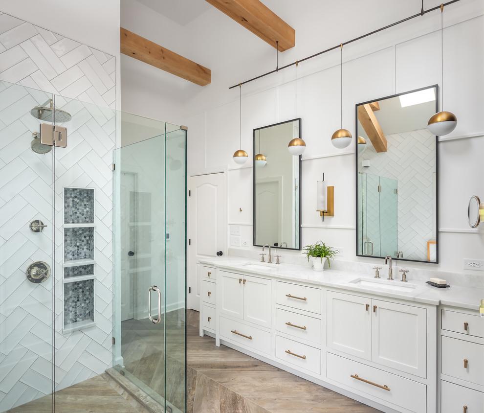 Raleigh Modern Farm Bath Renovation - Farmhouse - Bathroom ... on Farmhouse Bathroom Tile  id=28540