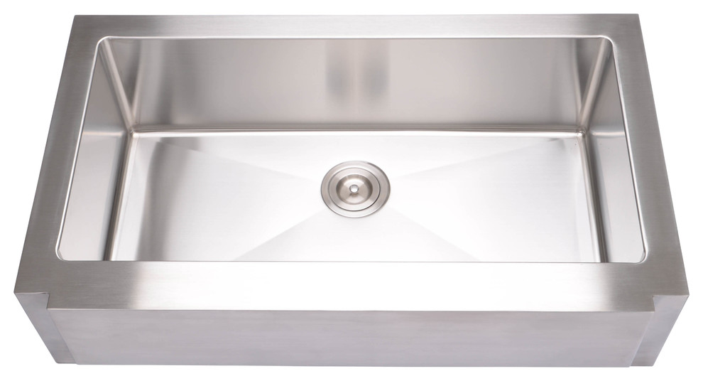 hahn notched farmhouse extra large single bowl sink