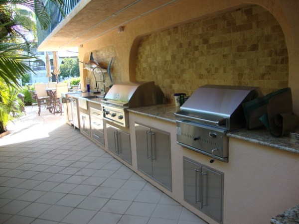 tropical patio outdoor kitchens Outdoor Kitchen / Grill - Tropical - Patio - Miami - by